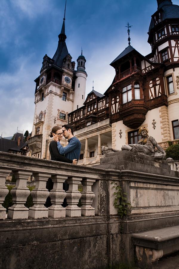 FOTOVIVA Fotografii logodnă  Sinaia Castelul Peleș